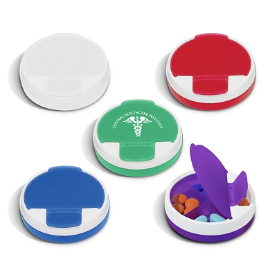 Round Pill Case - Printing 1 Colour