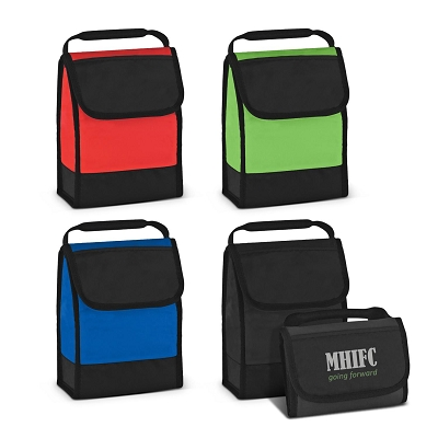 Folding ID Lunch Bag - Transfer/Printing 1 Colour