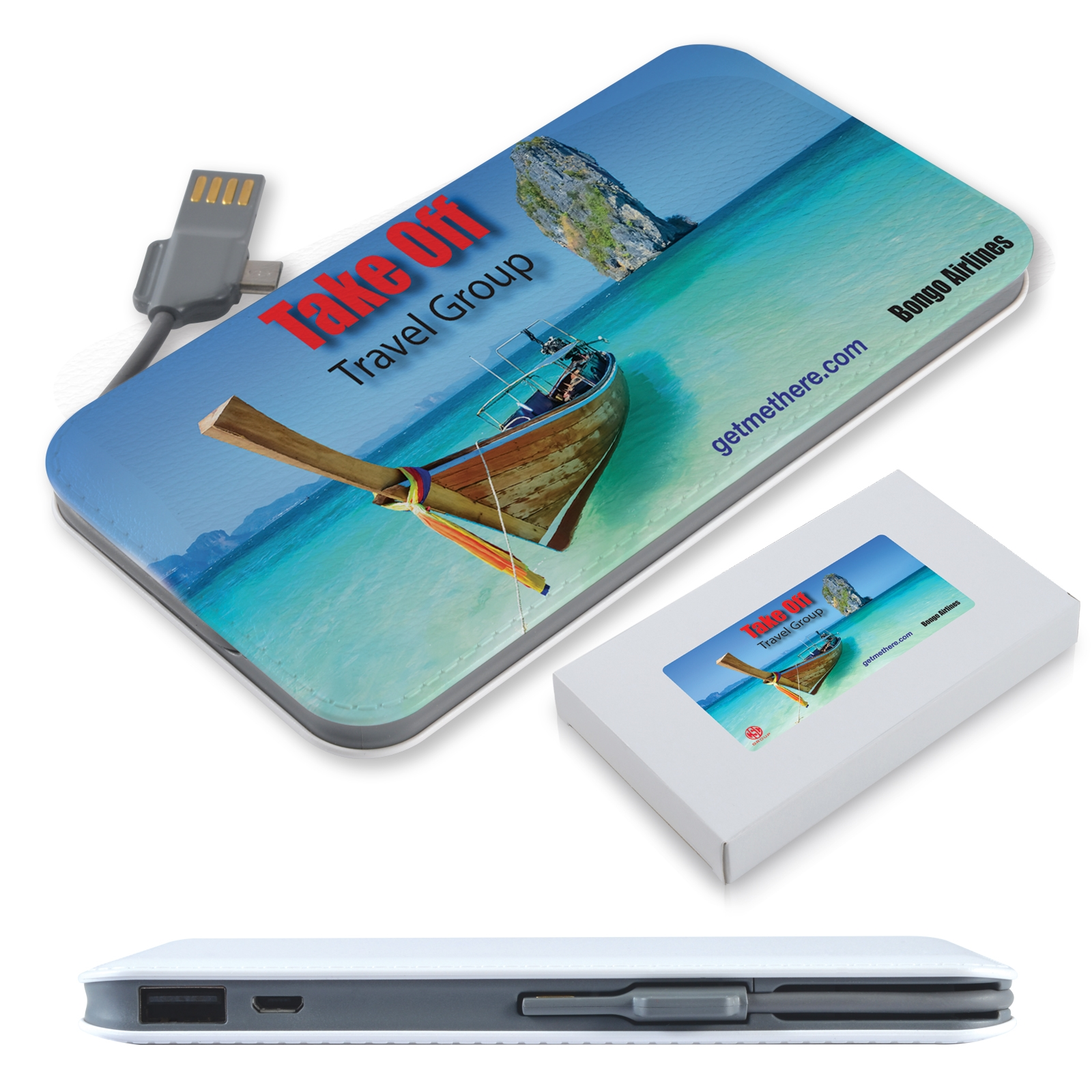 Surge Power Bank - Includes a 1 colour printed logo