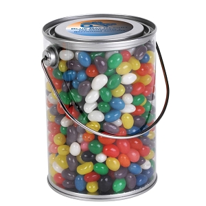 Assorted Colour Mini Jelly Beans in 1 Litre Drum - Includes a full colour logo