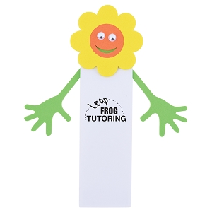 Flower Magnetic Bookmark - Includes a 1 colour printed logo