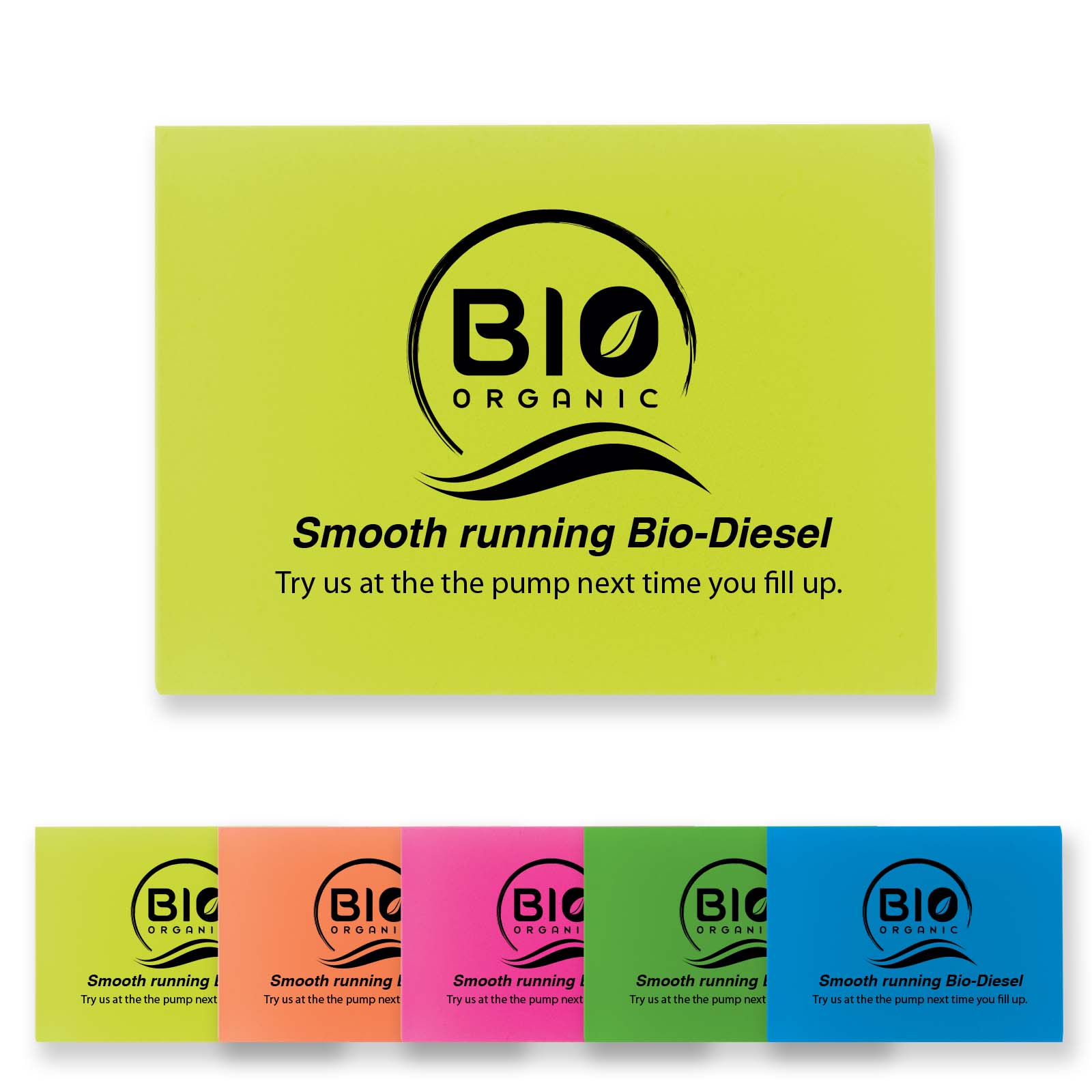 Fluro Rectangular Eraser - Includes a 1 colour printed logo