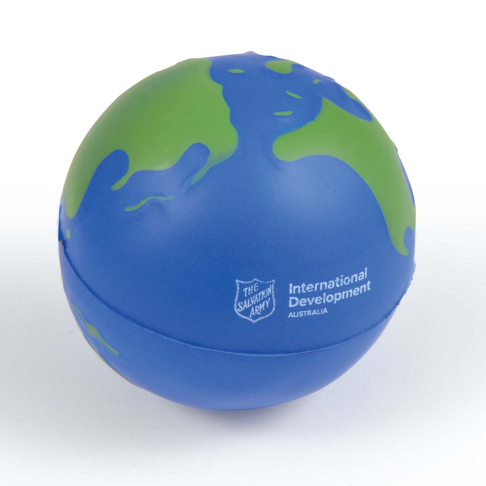 2 Colour World Globe Stress Reliever - Includes a 1 colour printed logo