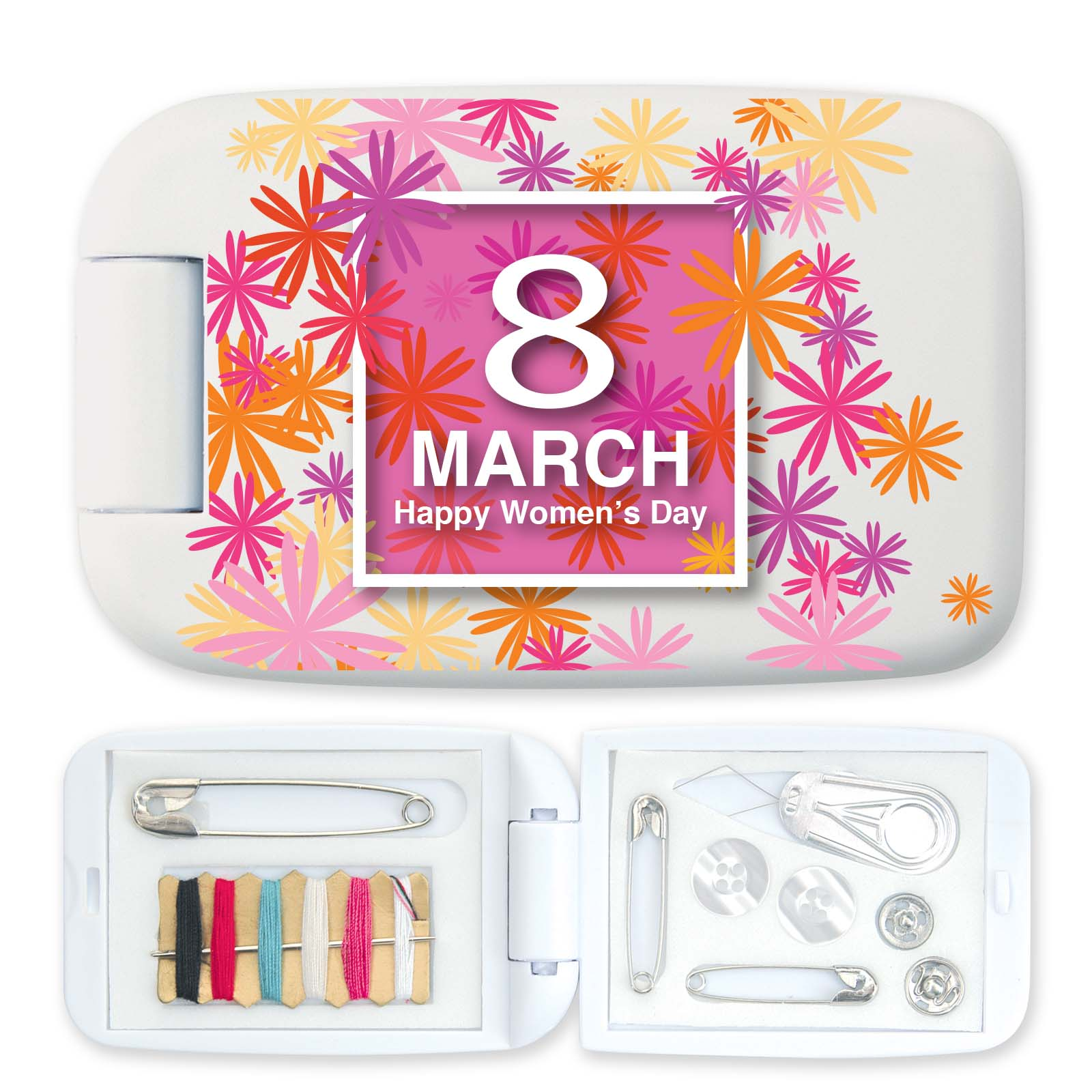 Stitch-In-Time Sewing Kit - Includes a 1 colour printed logo