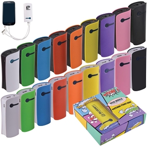 GREEN - Curve Tablet Power Banks - Includes a 1 colour printed logo