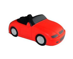 Anti Stress Sports Car Red - Includes a 1 colour printed logo