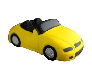 Anti Stress Sports Car Yellow - Includes a 1 colour printed logo