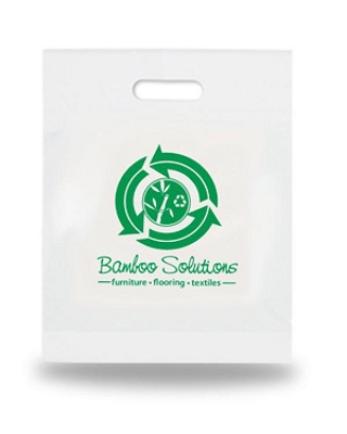 Plastic Bags Biodegradable 300 x 400mm Printed - Includes a 1 colour printed logo