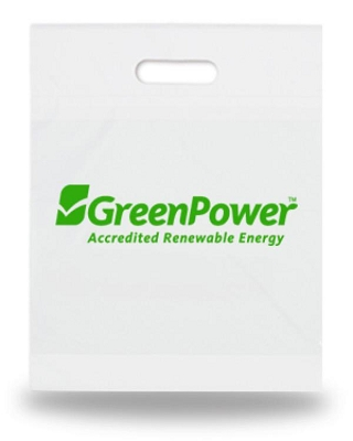 Plastic Bags Biodegradable 500 x 600mm Printed - Includes a 1 colour printed logo