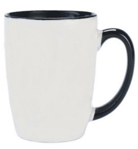 Carnivale Mug - White/Black, Includes a 1 colour print on one side