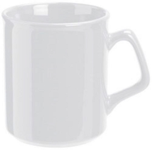 Flare Mug - White, Includes a 1 colour print on one side