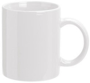 Can Mug - White, Includes a 1 colour print on one side