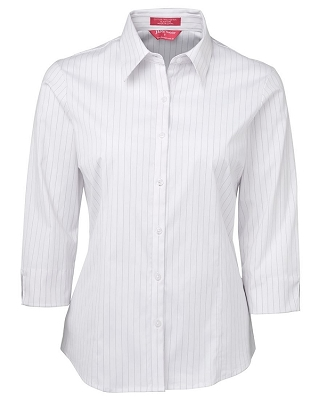 JB'S LADIES URBAN 3/4 POPLIN SHIRT