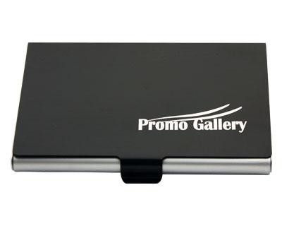 Aluminium Card Holder Black - Includes a 1 colour printed logo, From $1.71