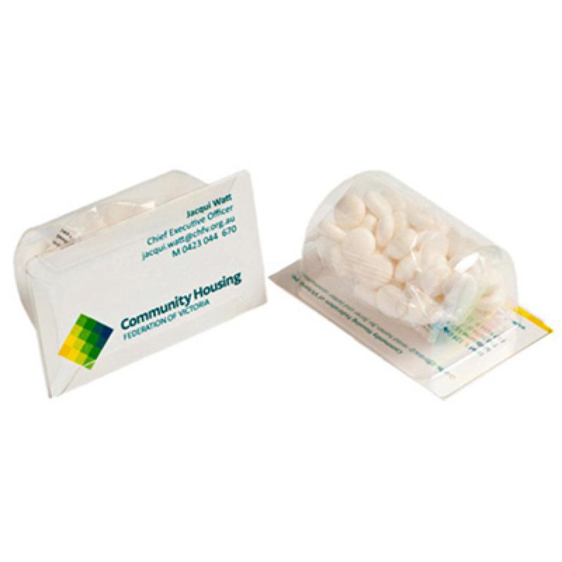 Biz Card Treats with Mints 25G - Business Card Supplied By Customer, From $1.53