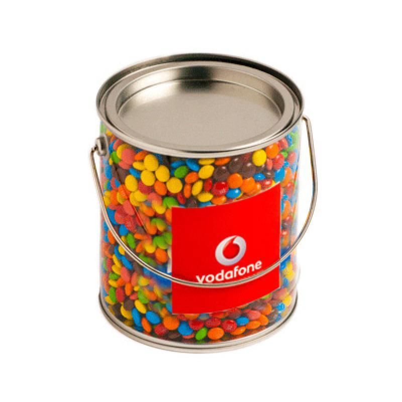 Big PVC Bucket Filled with M&Ms 850G - Includes Colour Sticker on bucket, From $19.4
