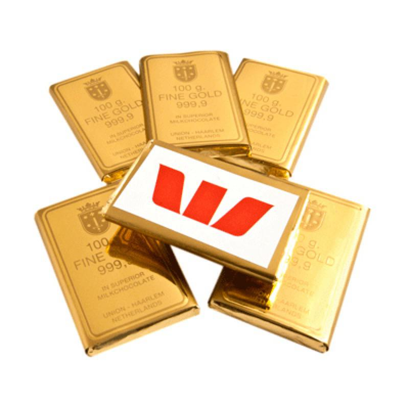Chocolate Gold Bullion Bulk - Includes Colour Sticker, From $0.95