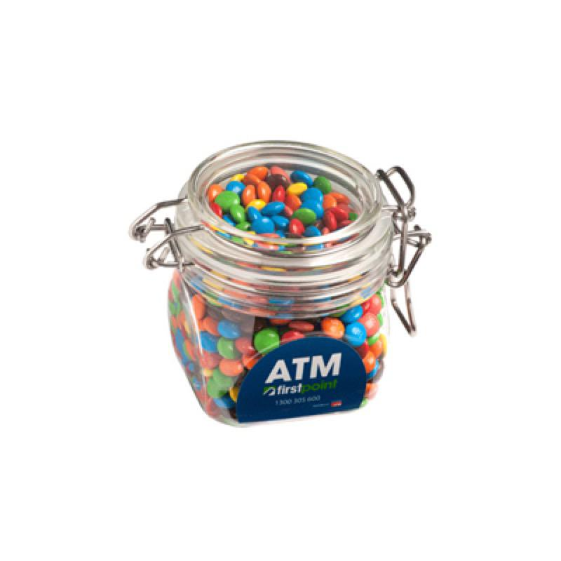 Mini M&Ms in Canister 200G  - Includes 1 Colour Pad Print, From $8.5