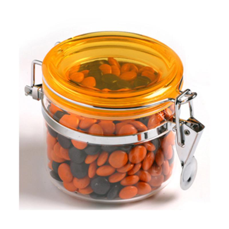 Choc Beans (Smartie Look Alike) in Canister 300G (Corporate Colours) - Includes Colour Sticker, From $9.36