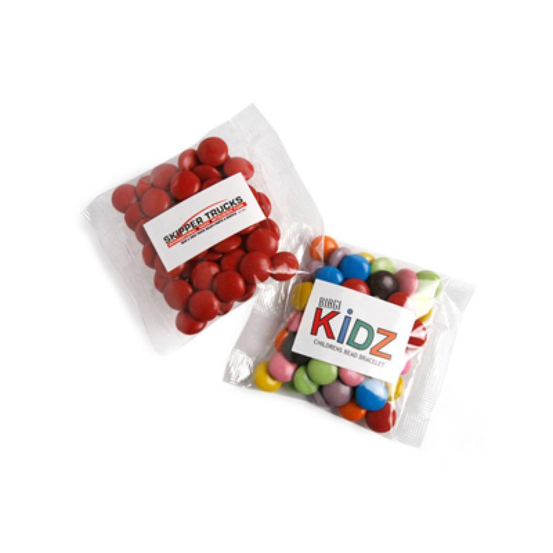 Choc Beans 50G (Corporate Colours) - Includes Colour Sticker on bag, From $1.31