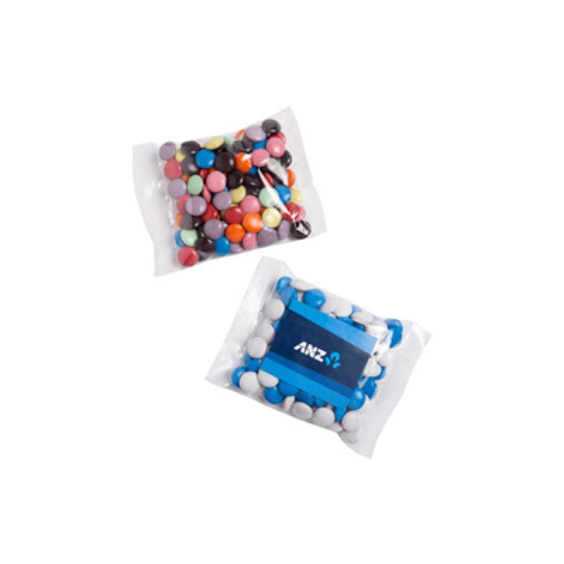 Choc Beans 100G (Corporate Colours) - Includes Colour Sticker on bag, From $2 -