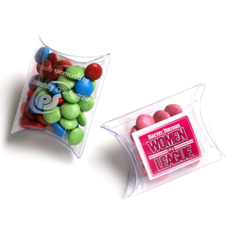 Choc Beans in PVC Pillow Pack 25G (Corporate Colours) - Includes Unbranded, From $1.5