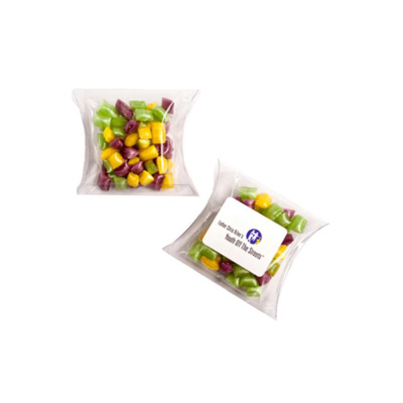 Corporate Coloured Humbugs in Pillow Pack 50G - Includes Colour Sticker, From $2.17