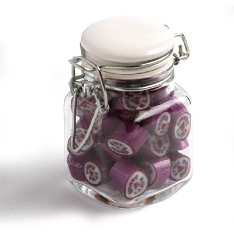 Christmas Rock Candy in Clip Lock Jar 65G - Includes Pad Print ONE Colour, From $5.33