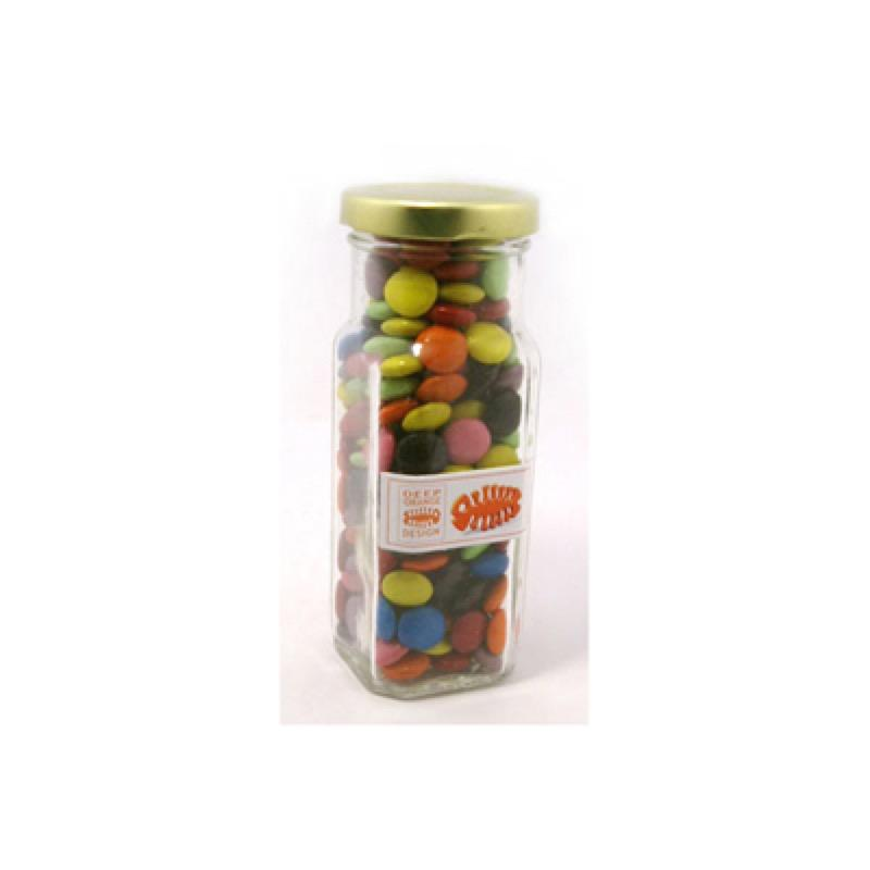 Choc Beans in Glass Tall Jar 220G (Mixed Colours) - Includes Unbranded, From $4.74