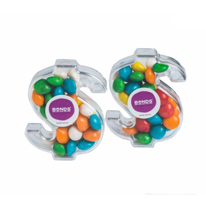 Acrylic Dollar Filled with Chewy Fruits 40G - Includes Colour Sticker, From $2.41