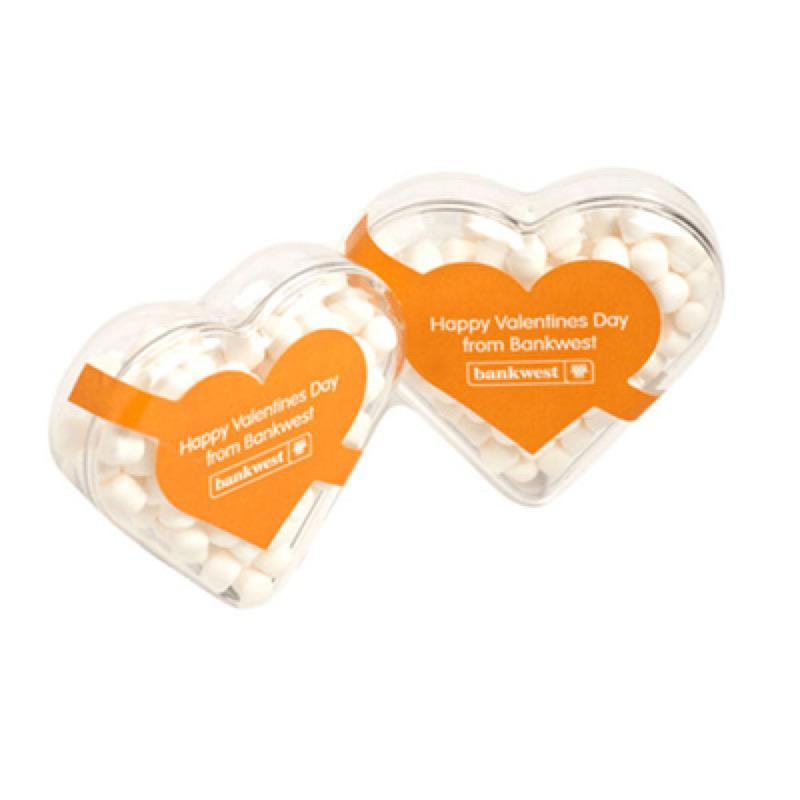 Acrylic Heart Filled with Mints 50G - Includes Colour Sticker, From $2.19