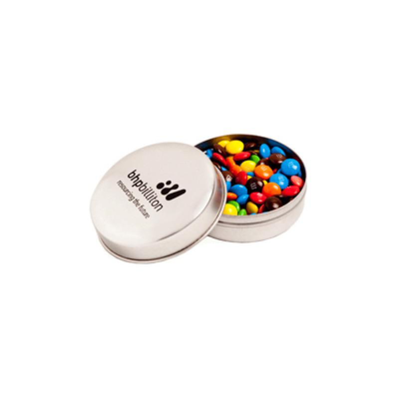 Candle Tin Filled with M&Ms 50G - Includes 1 Colour Pad Print, From $3.17