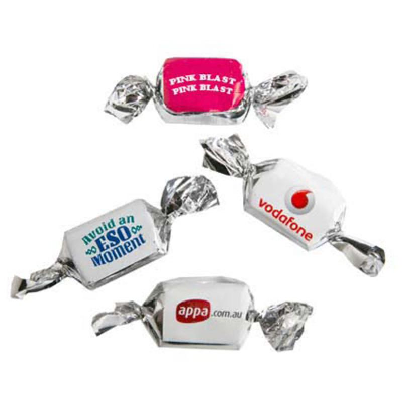 Twist Wrapped Minty Chew or Fruity Chew in Metalised Wrapper - Includes 1 SPOT Colour Cost per 100 units, From $8.44