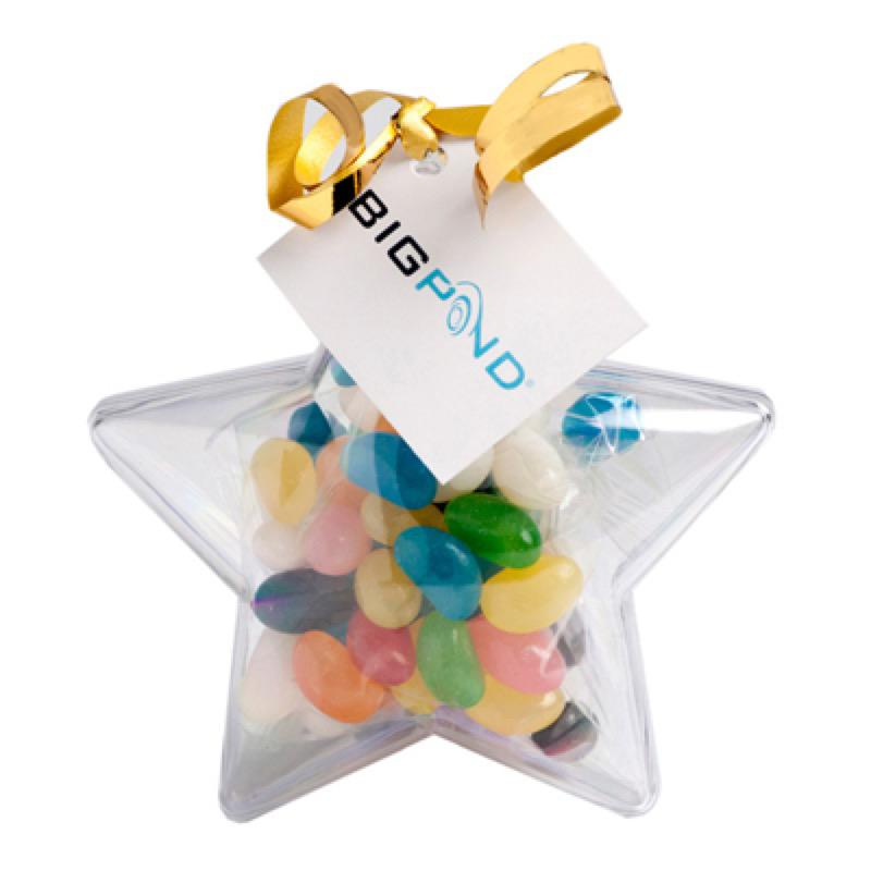 Acrylic Stars Filled with Jelly Beans 50G - Includes Tag, From $2.83