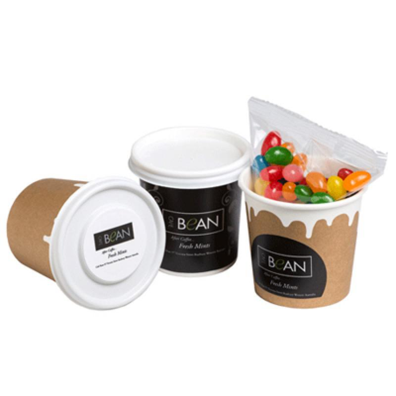 Coffee Cup Filled with Jelly Beans 50G - Includes Full Colour WRAP AROUND Colour Sticker, From $2.05
