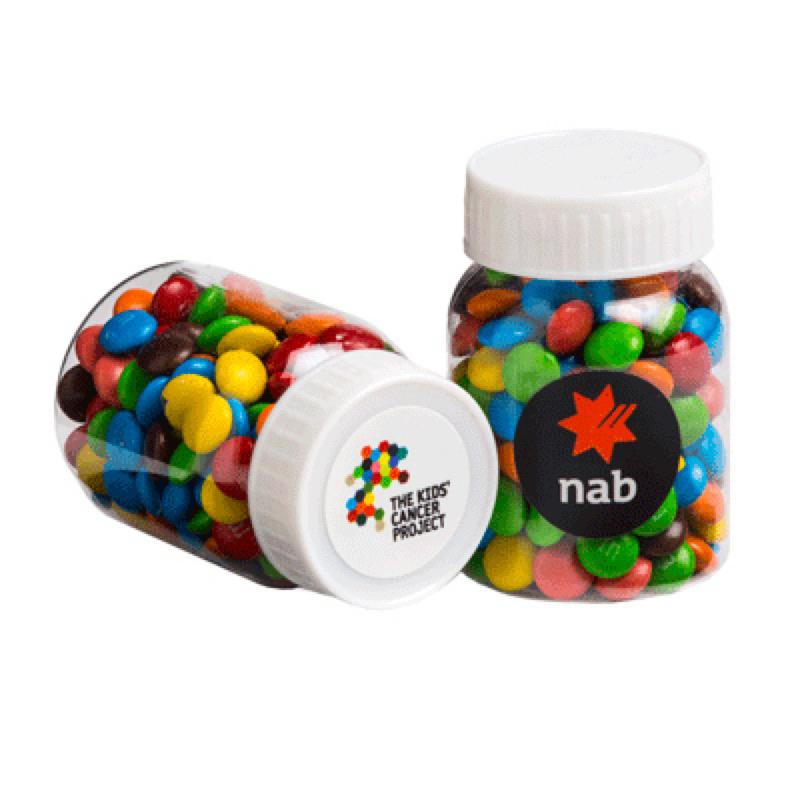 Baby Jar Filled with Mini M&Ms 45G - Includes Colour Sticker, From $2.19