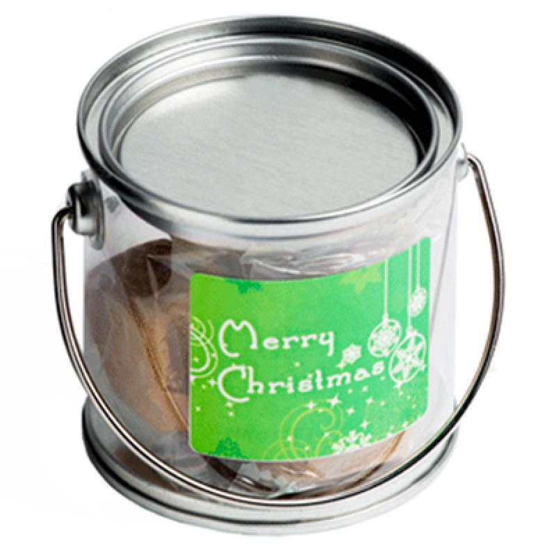 Small PVC Bucket Filled with Christmas Fudge Or Coconut Ice - Includes Colour Sticker, From $5.98
