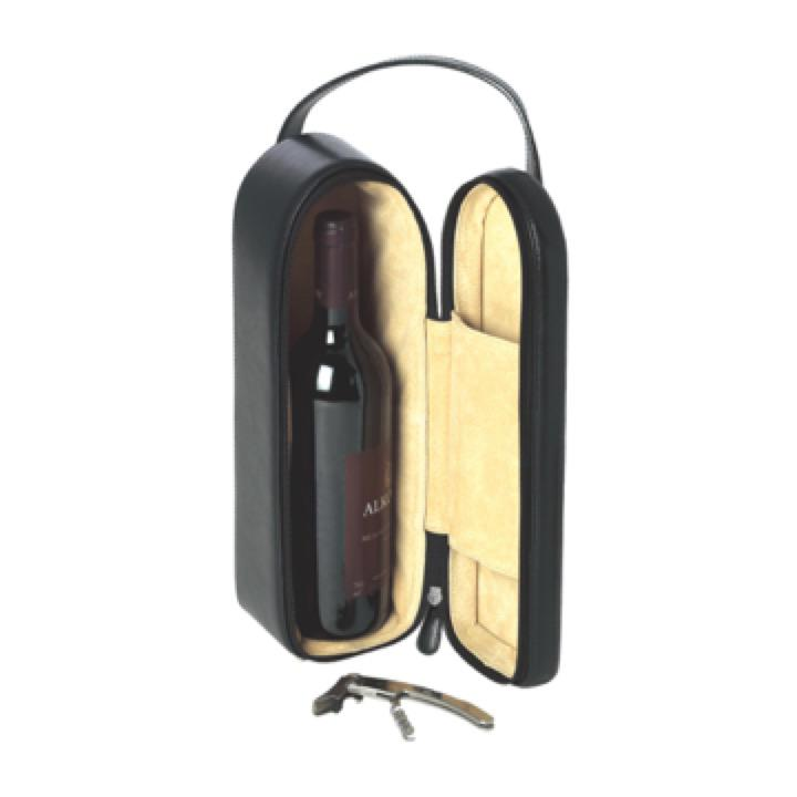 Polo Leather Wine Carrier - Includes a 1 Colour Print, From $30.1