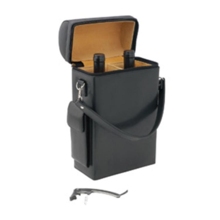 Leather Wine Carrier >> Geneva 2 Bottle Leather Wine Carrier