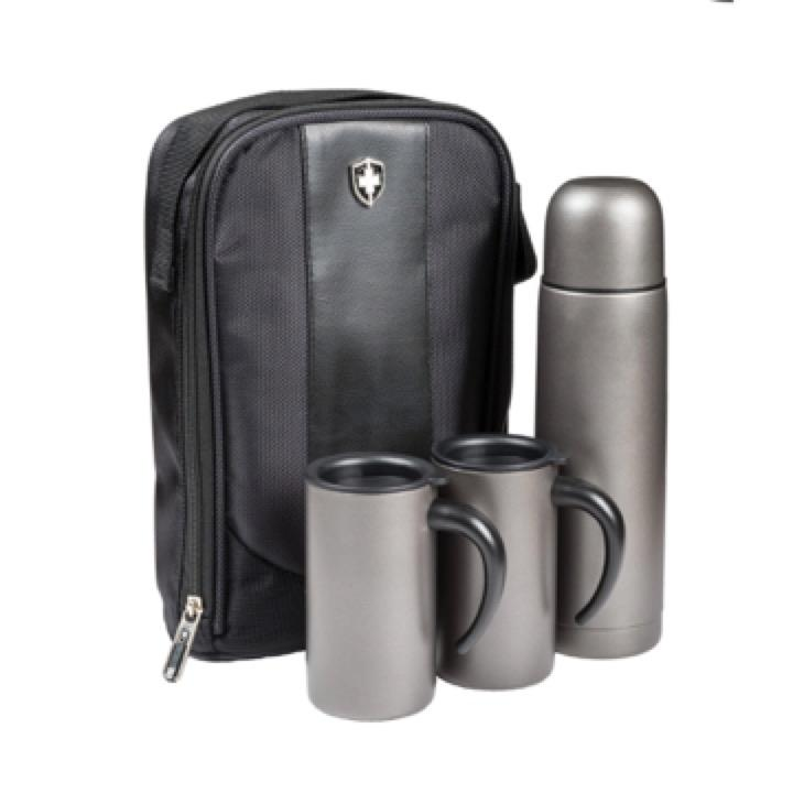 Swiss Peak Flask & Mug Set - Includes a 1 Colour Print, From $36 -