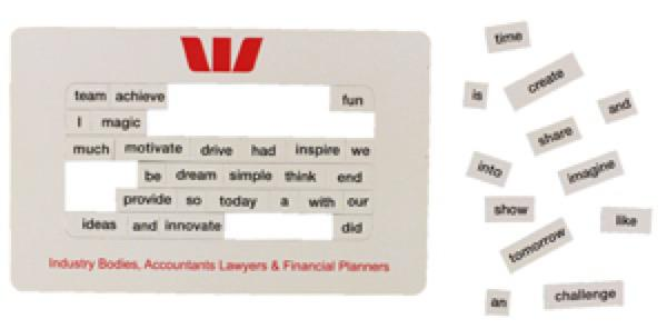 Poetry Magnets 95 x 150 mm - Includes a full colour print, From $0.54