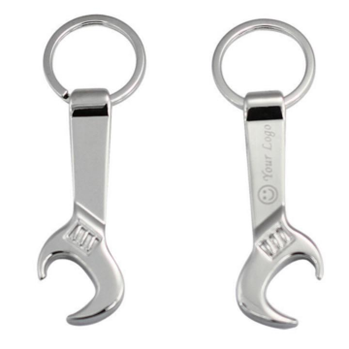 SPANNER SHAPE KEY RING  -  Includes laser engraving logo, From $1.86