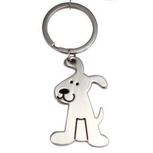 DOG SHAPE KEYRING -  Includes laser engraving logo, From $1.86