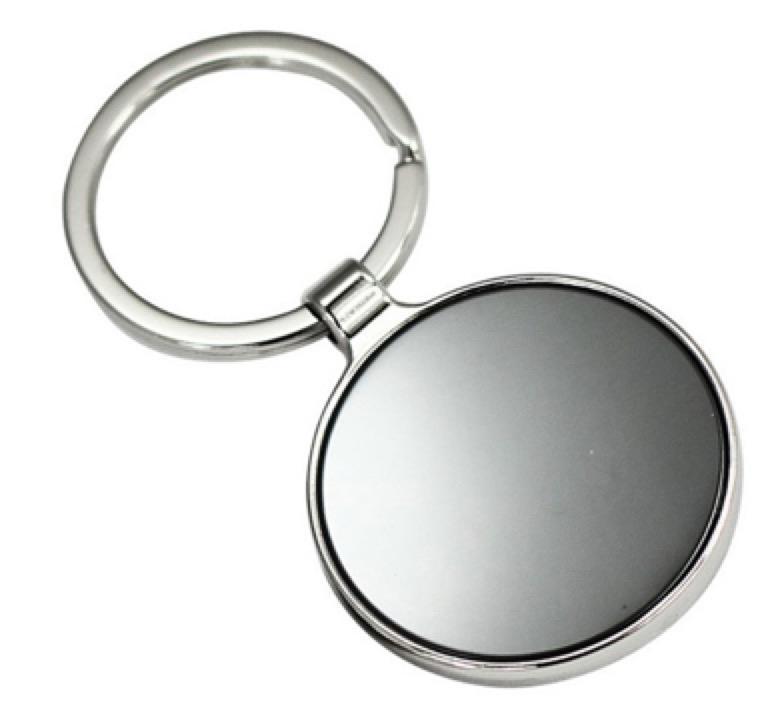 ROUND SHAPE KEYRING -  Includes laser engraving logo, From $1.86