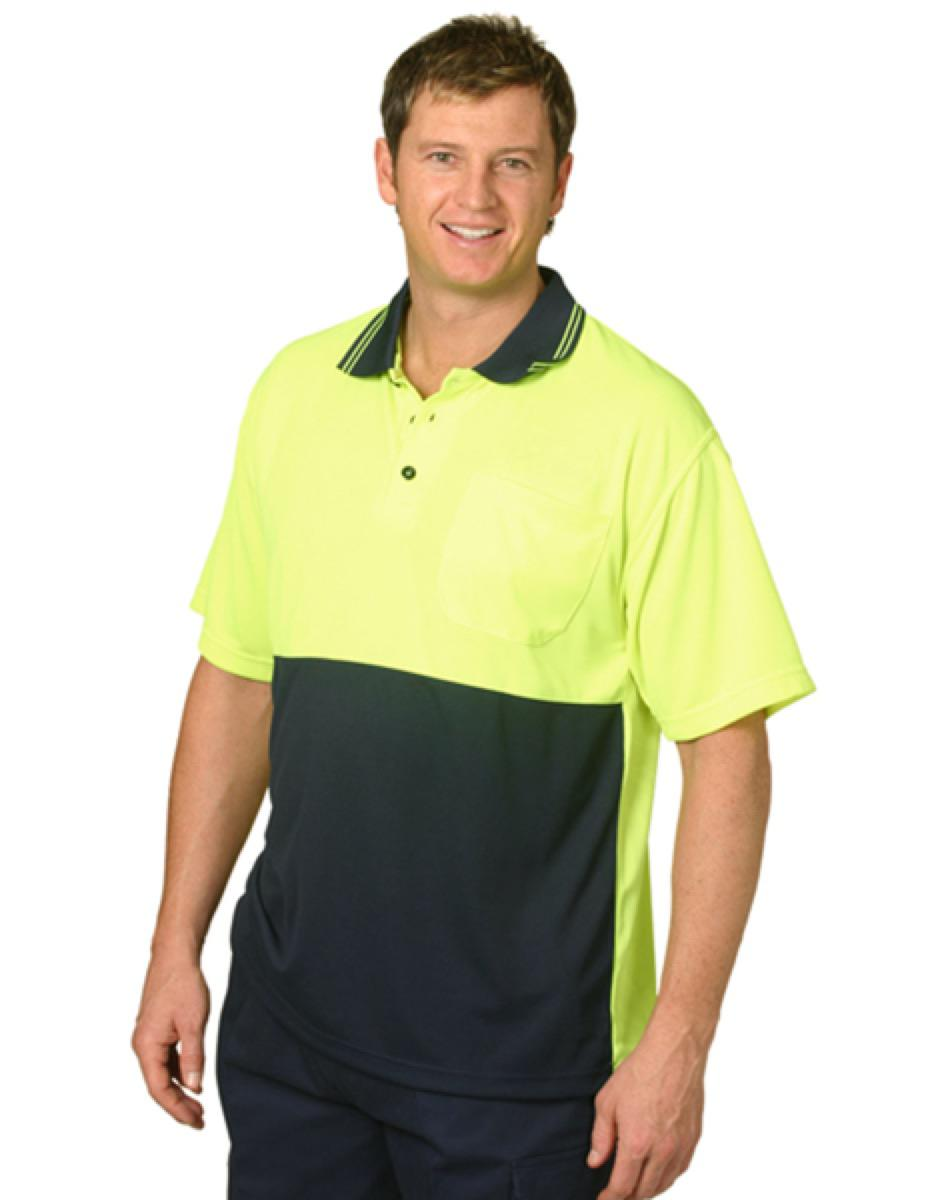 Hi-Vis cooldry safety polo S/S, From $11.2