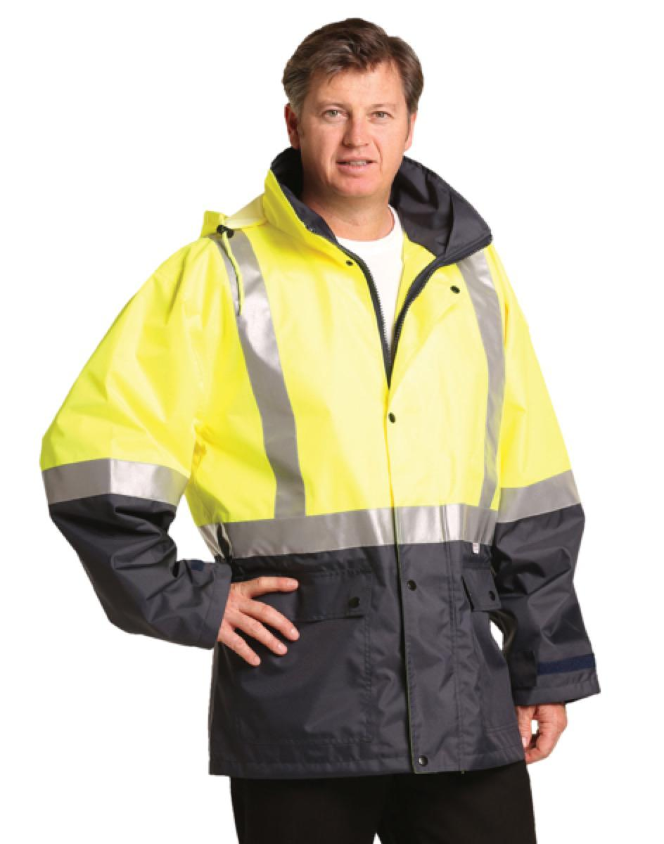 Hi-Vis Two Tone Rain Proof Safety Jacket With 3M Tapes, From $46.9
