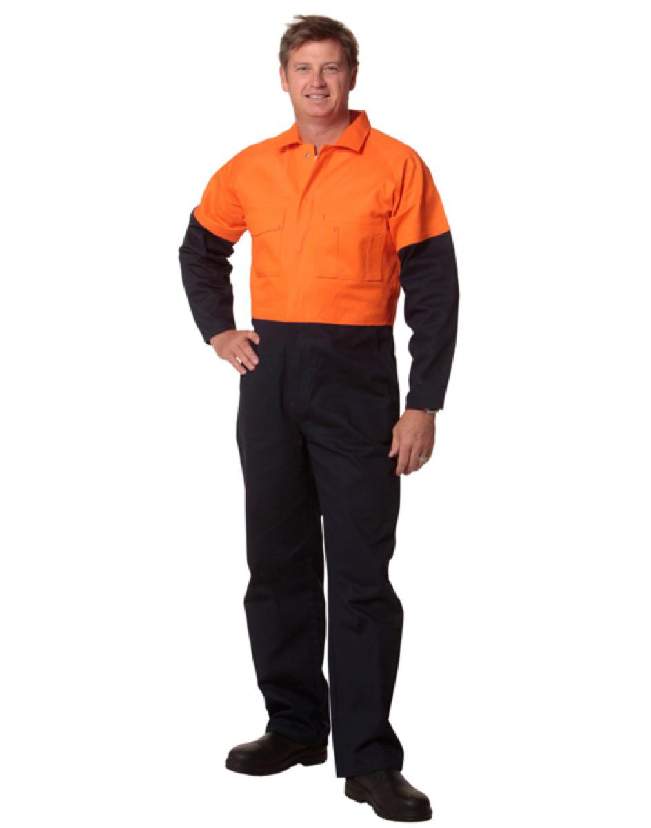 Hi-Vis Two Tone Men's Cotton Drill Coverall-Regular, From $46.3