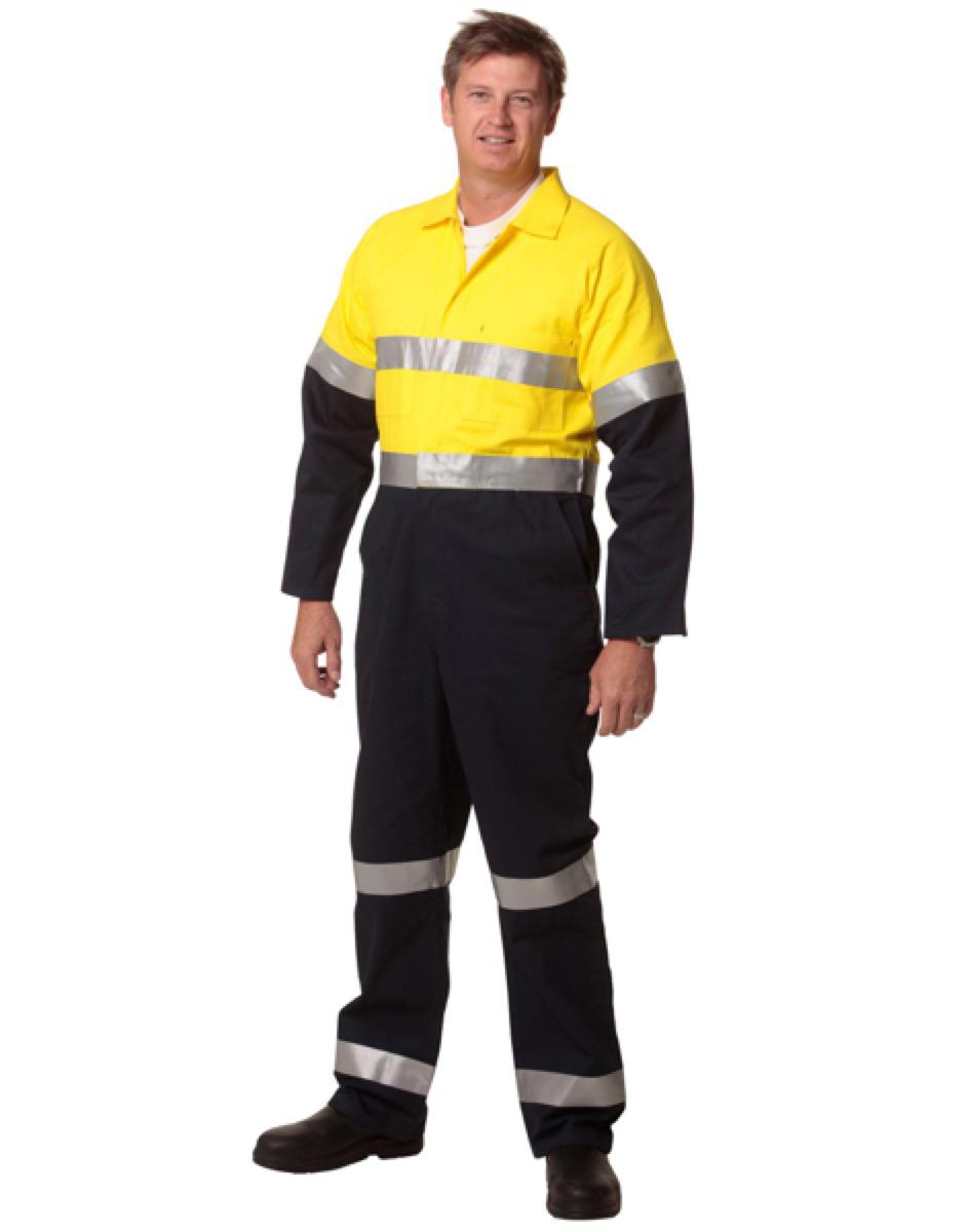 Hi-Vis Men's Light Weight Cotton Coverall with 3M Tape-Regular, From $55.4