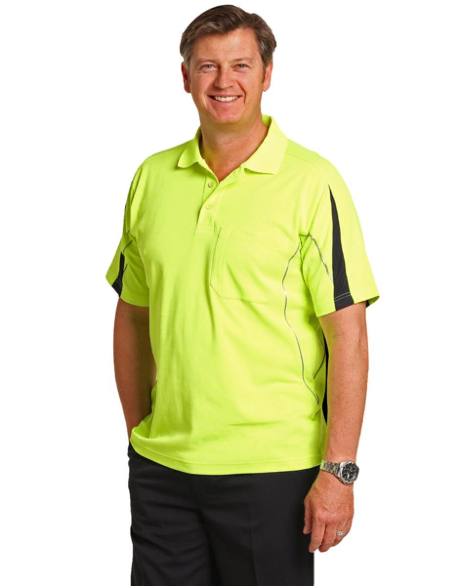 Men's Fashion Hi-Vis S/S Polo, From $15.1