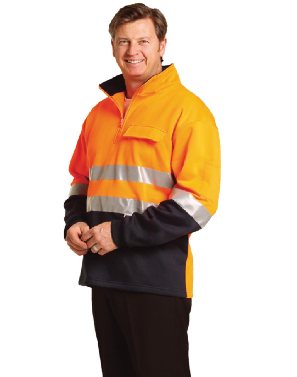 Hi-Vis Two Tone Cotton Fleecy Sweat With 3M tapes, From $40.4